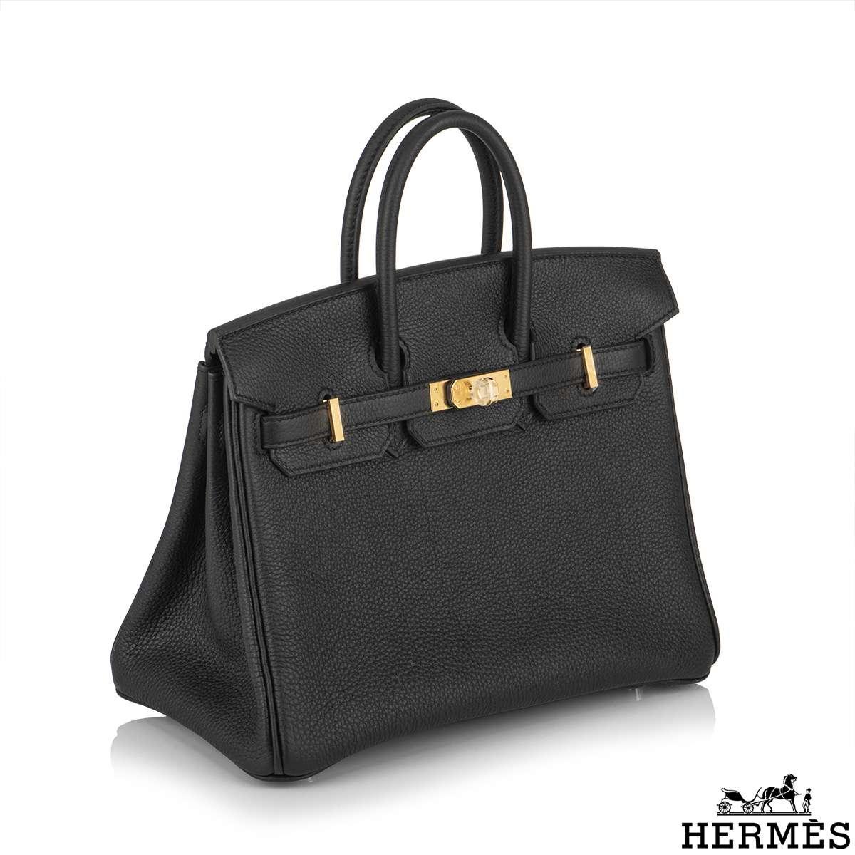 Hermès Black Togo Birkin 25cm GHW